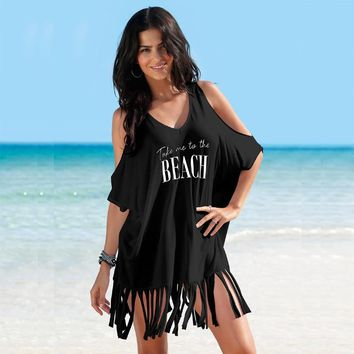 New 2018 Summer Beach Dress Off Shoulder Dress Casual Vestidos Verano Cotton Tunic Boho Jurk Robe Femme Black White