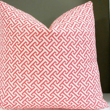 Designer coral pillow cover Indoor/Outdoor, all sizes available