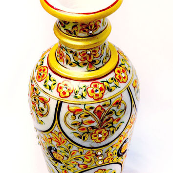 Aakashi Gold Peacock Flower Vase