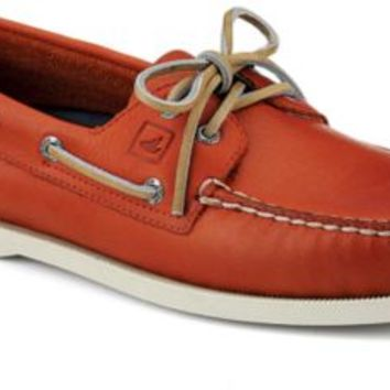Sperry Top-Sider Authentic Original Burnished Leather 2-Eye Boat Shoe OrangeBurnishedLeather, Size 11M  Men's Shoes