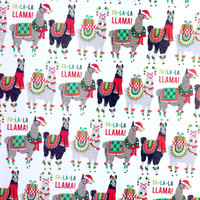 Holiday Llama Wrapping Paper, 1 Roll. Holiday gift wrap, Christmas wrapping paper