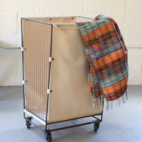 Canvas & Wire Hamper