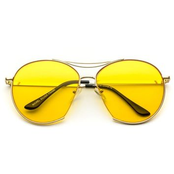 Ruby Oval Oversized Tinted Lens Sunglasses