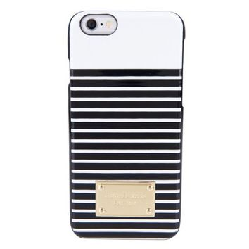 Michael Kors White Striped iPhone 6/6S Cover