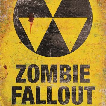 Metal Sign-zombie Fallout Shel haunted Attraction Props