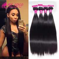 Brazilian Virgin Hair Straight 4 Bundles 7A Unprocessed Brazilian Hair Weave Bundles Queen Hair Products Brazilian Virgin Hair