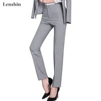 Full length professional business Formal pants women trousers girls slim female work wear office career plus size clothing