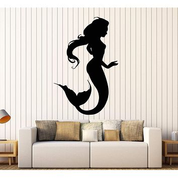 Wall Vinyl Decal Mermaid Romantic Love Girl Home Interior Decor Unique Gift z4071
