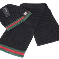 Gucci knitted hat & Scarf 001#