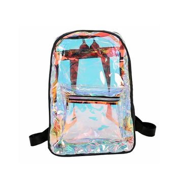 Transparent Backpack | Casual Backpack Student School