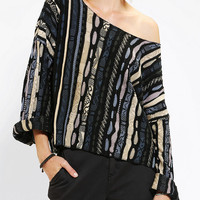 SNAP X Urban Renewal Kimono-Sleeve Printed Sweater