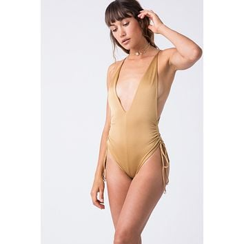 Playground Side Cinch One Piece - Cairo