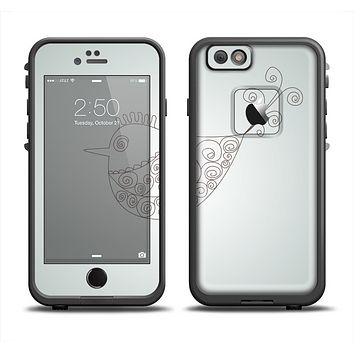The Simple Vintage Bird on a String Apple iPhone 6 LifeProof Fre Case Skin Set