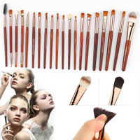 High Quality 20pcs Makeup Brushes Set Foundation Eye shadows Nose Lip Brush Makeup Tool Hot Selling