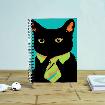 Black Cat Suit Photo Notebook Auroid
