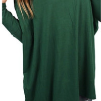 Long Sleeve Forest Green Piko