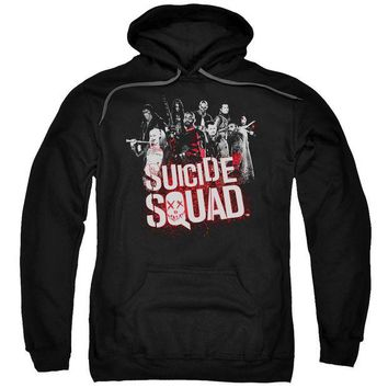 ac NOOW2 Suicide Squad - Squad Splatter Adult Pull Over Hoodie