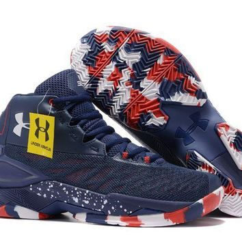Under Armour Men's SC30 Stephen Curry 3.5 Navy/White/Red Sport Sneaker