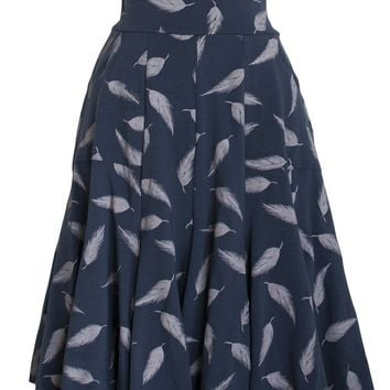 Seven Year Skirt in Feather Print