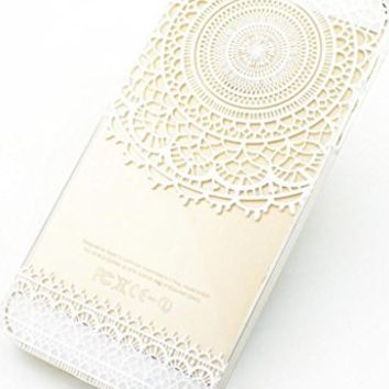 Clear Plastic Case Cover for Apple Iphone 5 5s 5c (Henna) Mandala Sun Lace Tribal Vintage (For iPhone 5 5S)
