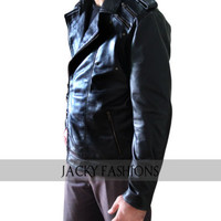 X Men Apocalypse Quicksilver Leather Jacket - Available All Sizes + Free Gift