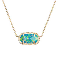Elisa Pendant Necklace in Marine Kyocera Opal - Kendra Scott Jewelry