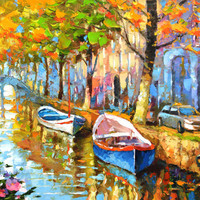 """The fragrant smell of autumn 2. Modern Art. Oil Painting on canvas by Dmitry Spiros.  Size: 28""""x36"""" (70 x 90 cm)"""