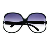Huge Extra Large Retro Vintage Designer Style Womens Round Oversized Sunglasses O45