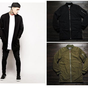 Long Flight Bomber Jacket