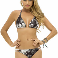 Bikini Set Triangular Top Python Print by Mali Swimwear