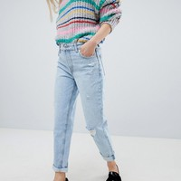 Bershka High Waisted Mom Jean at asos.com