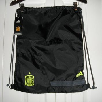 Adidas Spain World Cup Soccer Futbol Drawstring Backpack Sackpack, NWT'S