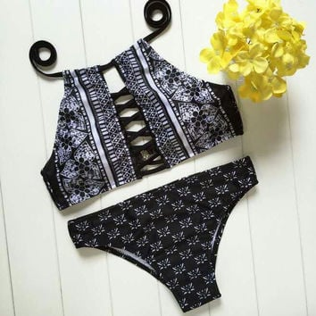 Summer New Arrival Sexy Swimsuit Hot Beach Swimwear Floral Ladies Bikini [9882723663]