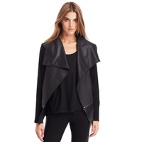 Nell Leather Sweater Jacket - Jackets - Kenneth Cole