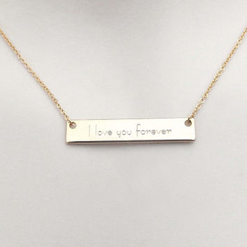Personal, Initials, Bar, Gold, Silver, Rose gold, Neclace, Lovers, Friends, Mom, Sister, Gift