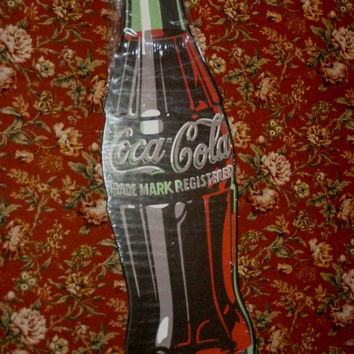 Coca Cola Bottle Advertising Sign - sealed in factory packaging never opened