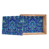 Aimee St Hill Paisley Blue Jewelry Box