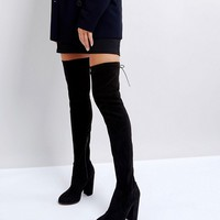 ASOS KINGSHIP TALL Heeled Over The Knee Boots at asos.com