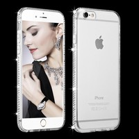 for iphone 7 8 plus Case Transparent Luxury Rhinestone for iphone 6 6S Plus 5S SE Clear Soft Diamond Bling Cover for iphone 8