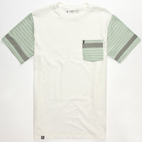 Lira Eagle Mens Pocket Tee White  In Sizes