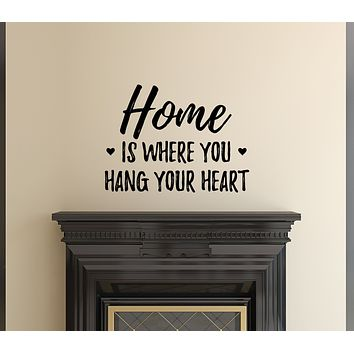 Wall Vinyl Decal Home Where Your Heart Inspirational Decor z4921
