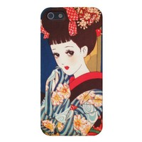 Cool japanese Nakahara tender manga lady geisha Cover For iPhone 5 from Zazzle.com