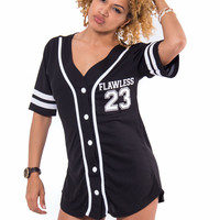 Flawless Baseball Jersey (Black)