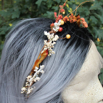 Autumn Crown * Samhain * Halloween * Fall Wreath * Floral Headband * Faerie * Wicca * Witchcraft * Fairy * Woodland * Strega * Pastel Goth *