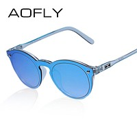 Women Sunglasses Fashion Men Retro Reflective Mirror Sun glasses Female Vintage UV400
