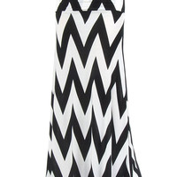 Monochrome Chevron Maxi Skirt