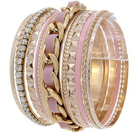 Braid & Stack Bangle Bracelet: Multiple Colors