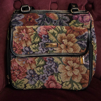 90's Floral Tapestry Purse