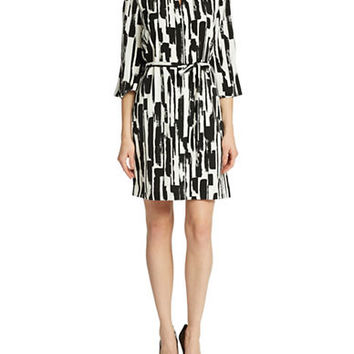 Tahari Arthur S. Levine Jennie Patterned Dress