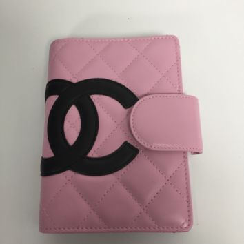 Chanel Pink Cambon Agenda Notebook